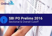 SBI PO Cutoff (Prelims) | Previous Year & Expected 2016
