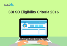 SBI SO Eligibility Criteria 2016 | SBI Specialist Officer Recruitment