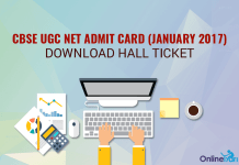 CBSE UGC NET Admit Card (January 2017): Download Hall Ticket