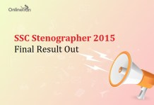 SSC Stenographer Final Result