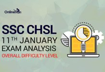 SSC CHSL 11th January Exam Analysis, Overall Difficulty Level