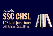 SSC CHSL 17th Jan Questions