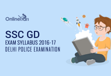 SSC GD Exam Syllabus 2016-2017: Delhi Police Examination