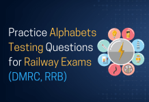 Practice Alphabets Testing Questions for Railways Exam (DMRC, RRB)
