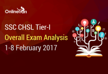 SSC CHSL Tier 1 Overall Exam Analysis: 1-8 February 2017