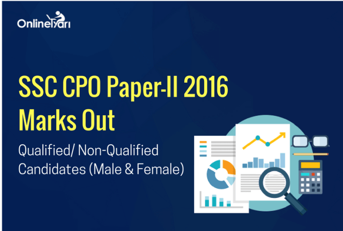 SSC CPO Paper 2 Marks Out: Qualified/ Non-Qualified Candidates