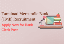 Tamilnad Mercantile Bank Recruitment 2017: Apply Online for Clerk Post