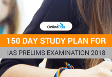 150 Day Study Plan for IAS Prelims Examination 2018