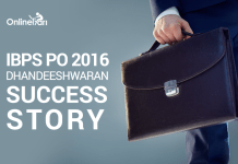 IBPS PO 2016: Dhandeeshwaran Success Story
