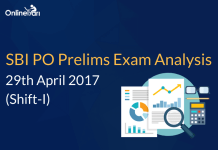 SBI PO Prelims Exam Analysis, Review: 29 April 2017 (Shift 1)