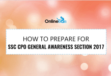 How to Prepare for SSC CPO General Awareness Section 2017
