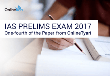 IAS Prelims Exam Questions 2017: OnlineTyari hits the Bull's Eye