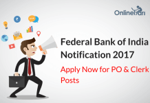 Federal Bank PO Clerk Official Notification 2017 Released