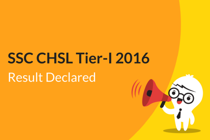 SSC CHSL Tier 1 2016 Result Declared: Check Here