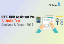 IBPS RRB Assistant All India Test Analysis & Result 2017