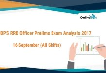 IBPS RRB Officer Exam Analysis: 16 September (All Shifts)