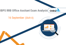IBPS RRB Assistant Prelims Exam Analysis | 16th September (Shift 2)