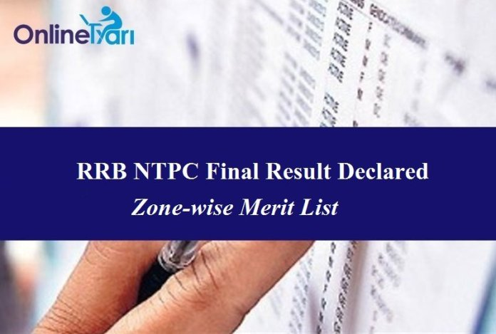 RRB NTPC Final Result Out: List of Shortlisted Candidates