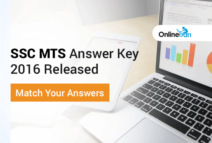 SSC MTS Answer Key 2016 Released: Match Your Answers