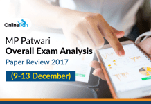 MP Patwari Overall Exam Analysis, Paper Review 2017 (9-13 December)