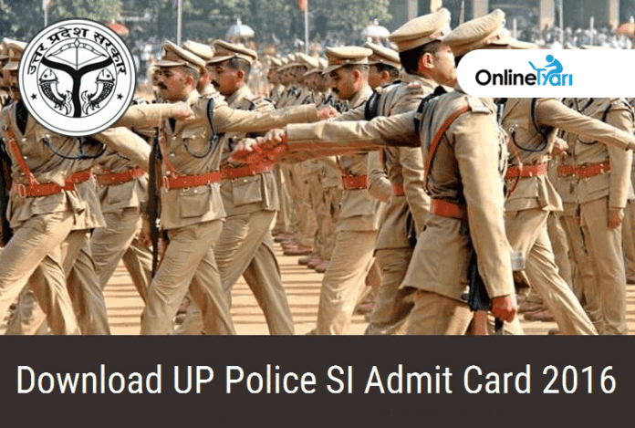Download UP Police SI Admit Card 2016, Sub Inspector Online Exam Date