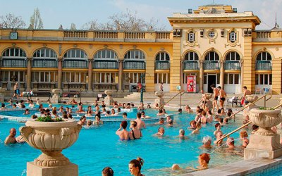 Spring Baths in Budapest