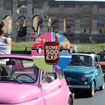 A ride at the wheel of a Fiat 500 -Rome