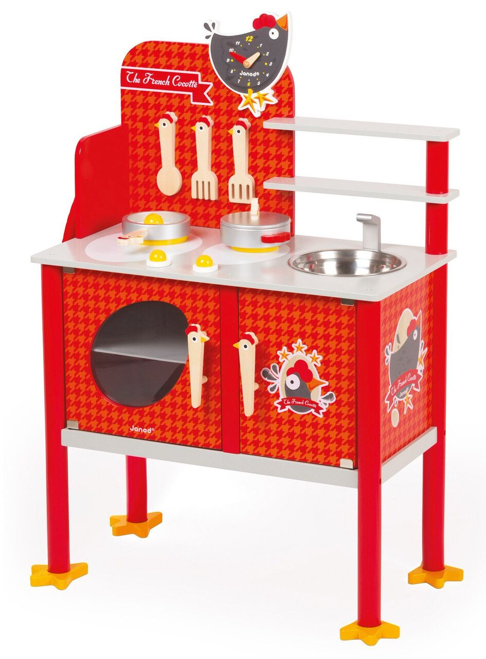 fun chicken inspired janod kitchen toy