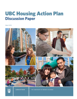 UBC Housing Action Plan Cover Speak Your Mind on the UBC Housing Action Plan