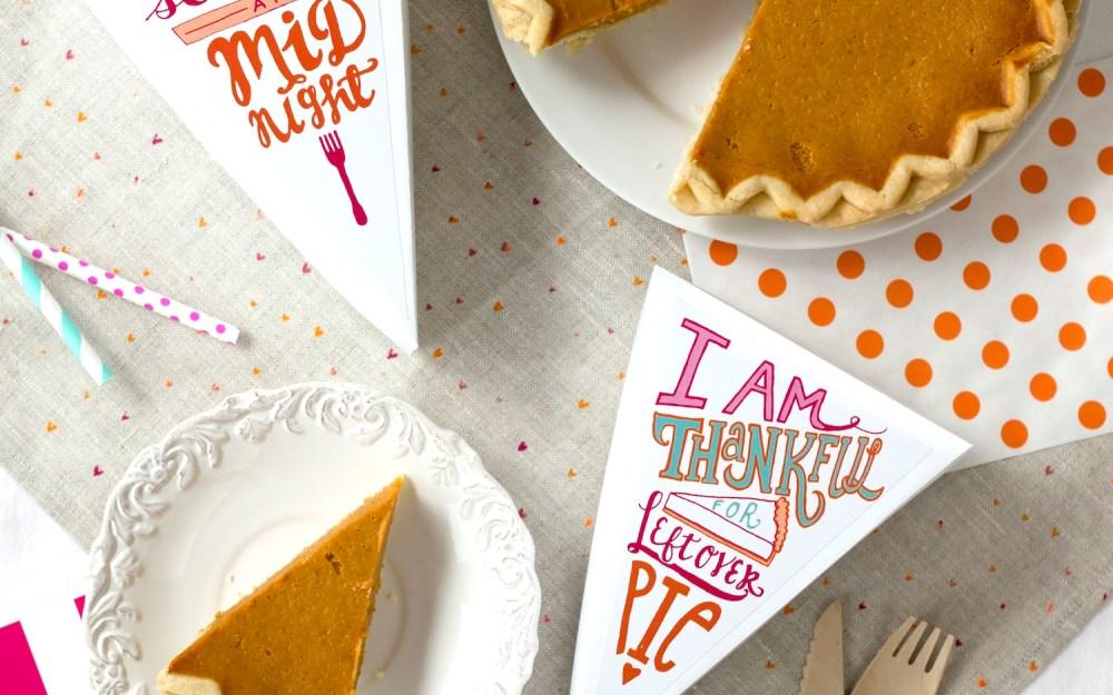 Printable Leftover Pie Labels by Striped Cat Studio for Studio DIY