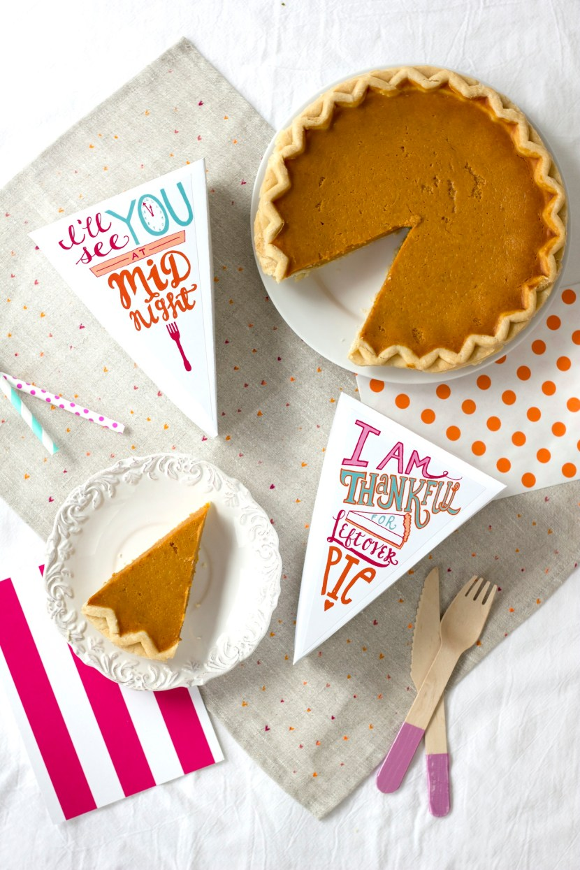 Printable Leftover Pie Labels by Striped Cat Studio for Studio DIY