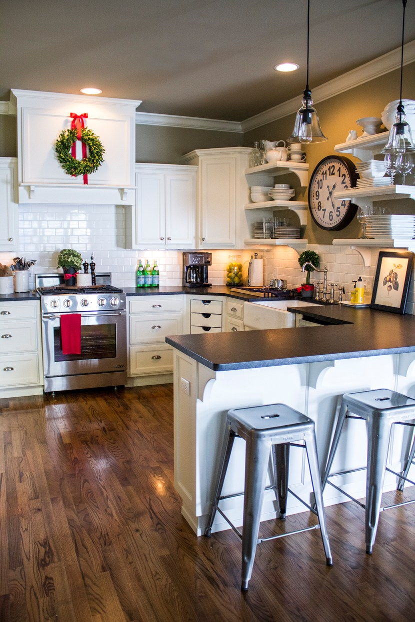 Holiday home tour classic christmas decor House beautiful kitchen of the year 2013