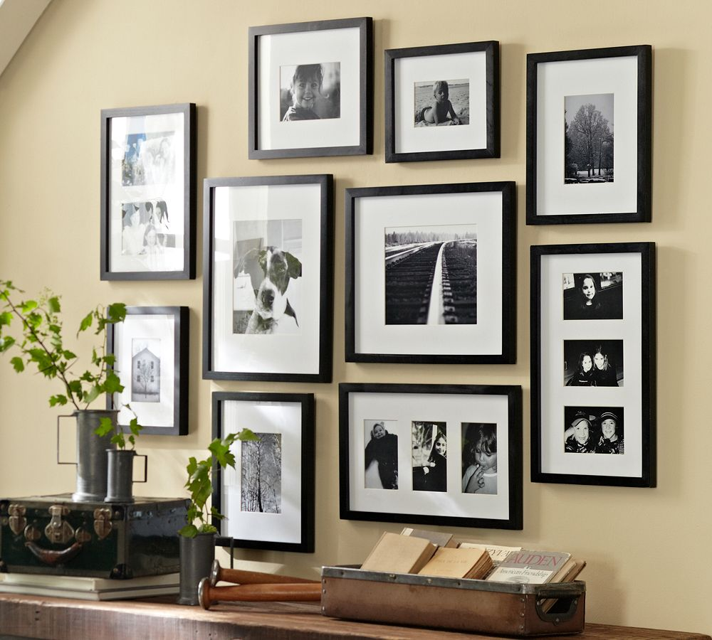 Neat Ways To Set Up A Gallery Wall Pottery Barn Frames Silver Pottery Barn Frame Ornament baby Pottery Barn Frames