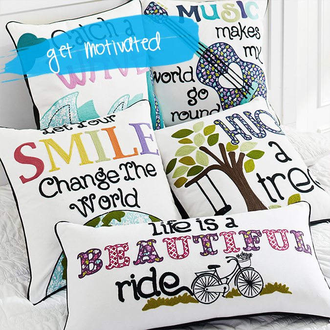 motivation pillows _ spring dorm