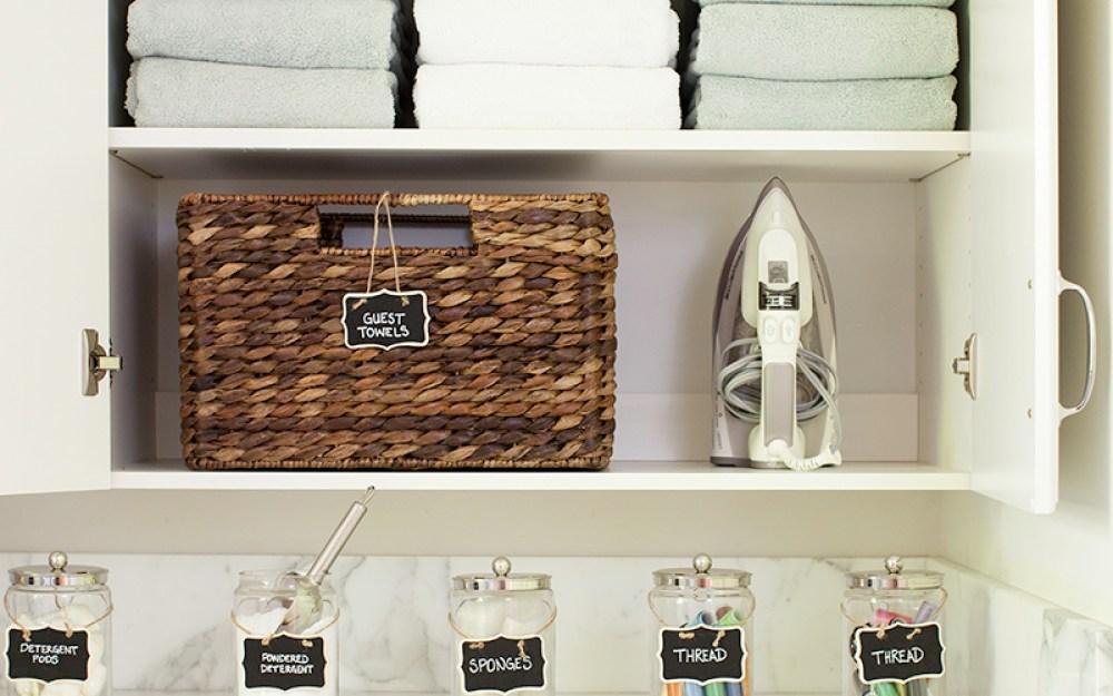 Pottery Barn Laundry Room Organization Makeover