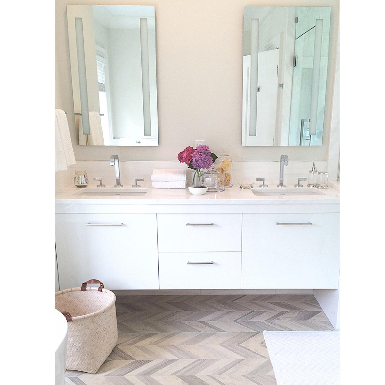 Above  Pottery Barn Bathroom Accessories. Hamptons Home Makeover  Clean  Crisp and Coastal Casual   Pottery Barn