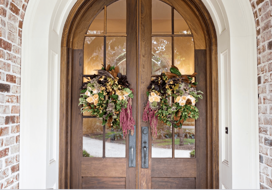A fabulous front door for fall pottery barn for Fabulous front doors