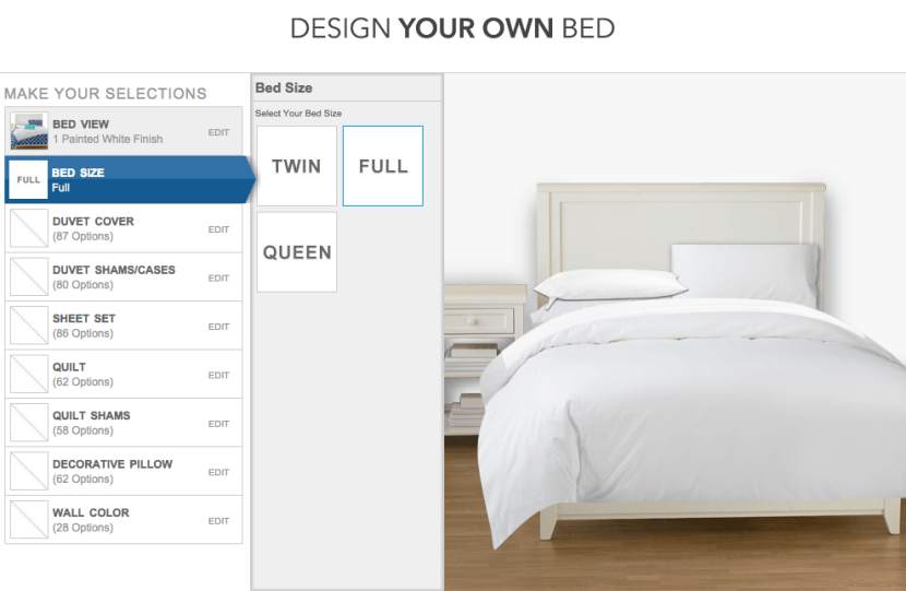 Step Three Choose Your Bed Size Twin Full Or Queen