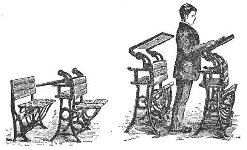 standing desk illustration