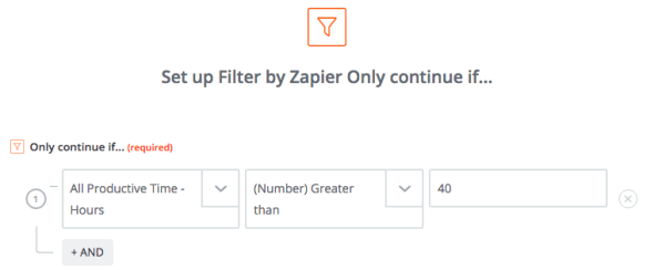 Zapier's filters let you act on data only if it meets the right conditions