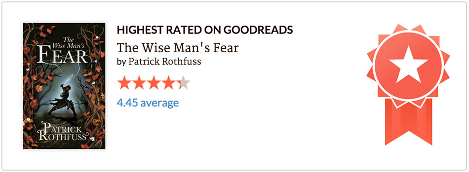 Estatisticas Goodreads 2015 - o maior rating