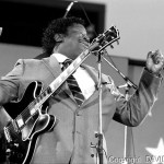 BB King  at the first Farm Aid Spetmeber 22 1985