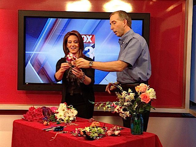 Fox 43's Heather Warner with Barry Spengler of Royer's.