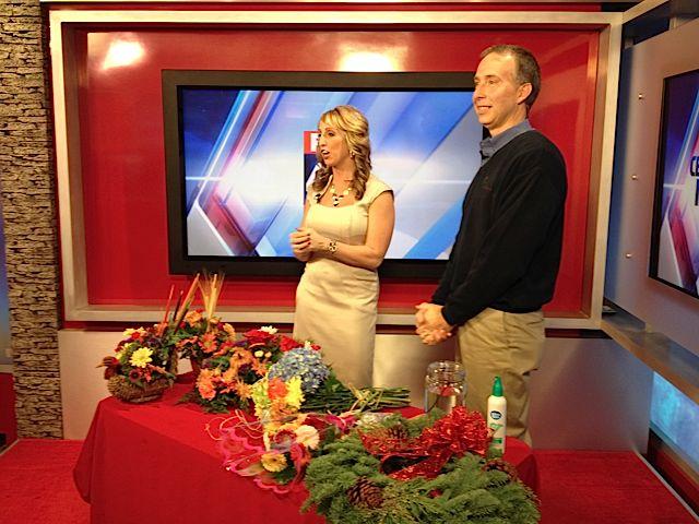 Barry Spengler with Fox 43 Morning News' Amanda McCall.