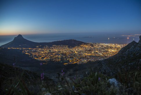 Lion's Head at night