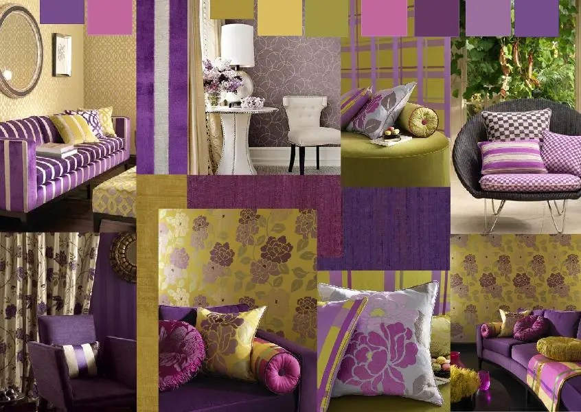 purple interior design mood board 3