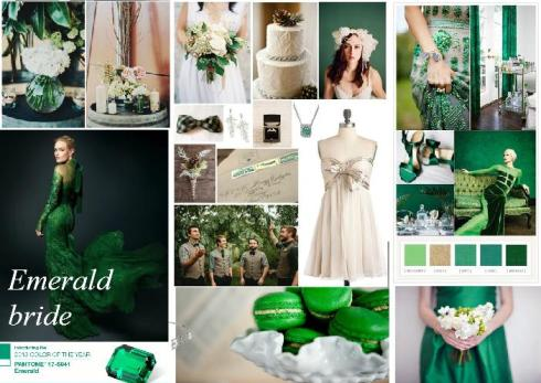 Emerald wedding inspiration boards