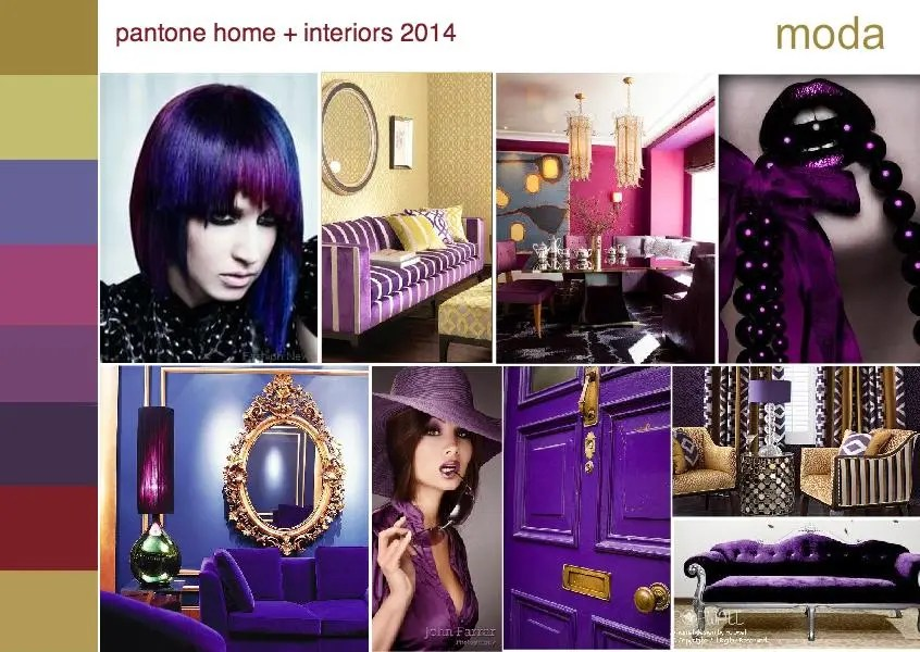pantone moda color trend interior design mood board 1