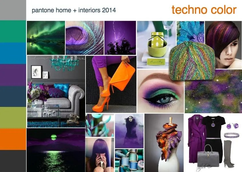 ... and Color: Major Trends and Directions for 2014 {techno color