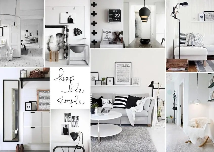 Digital interior design Scandinavian mood board created with www.sampleboard.com